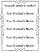*Editable* Preschool or Kindergarten Name Tracing Printable Sheet, Fall Themed