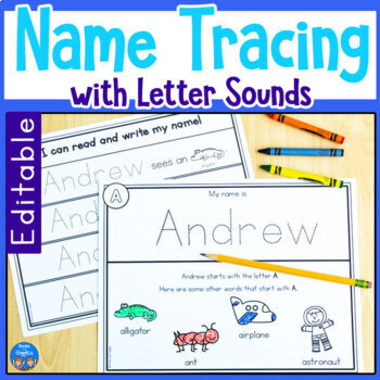 Name Tracing Editable Worksheets & Teaching Resources | TpT