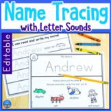 Editable Name Tracing Worksheets