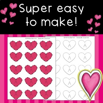 Editable Name Tracing Valentines Activity