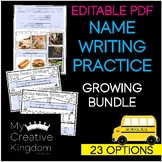 EDITABLE PDF Interactive First & Last Name Writing Practice - PK-1