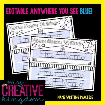 EDITABLE PDF Interactive First & Last Name Writing Practice Growing Bundle