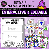 Editable Name Writing Worksheets - Preschool, PreK, Kindergarten