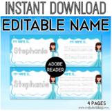 Editable Name Writing Worksheet, Playdough Mat