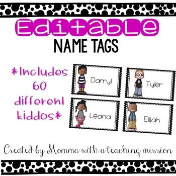 Editable Name or Locker Tags