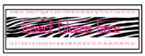 ZEBRA print Editable Name plates with letters/numbers