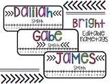 Editable Name tags *Bright Colors