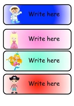 Editable Name tags / Table tags
