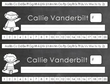 Editable Nameplates