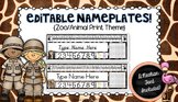 Editable Nameplates for Back to School Zoo Animal Theme