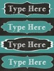 Editable Nameplates and Classroom Labels for Chalk It Up! Lovers