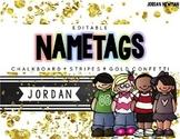 Editable Nameplates or Labels - Chalkboard, Stripes, Gold
