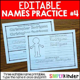 Editable Names #4 - First and Last Name Practice