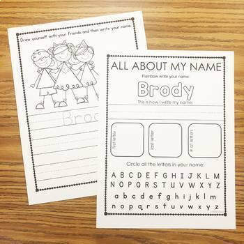 Names - Editable Names Activities - Name Printables