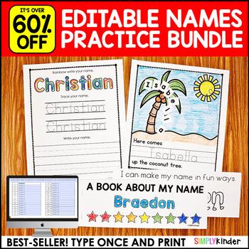 Names - Editable Names Bundle - Names Activities