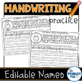 Editable Names Handwriting Practice