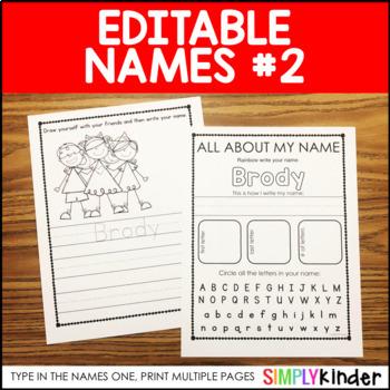 Editable Names Set 2