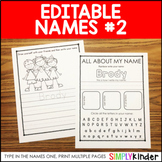 Editable Names Set 2