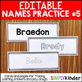 Editable Names Set 5 - Painting, Play Dough, Stickers, and More