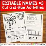 Editable Names Unit #3 - Cut and Paste Activities