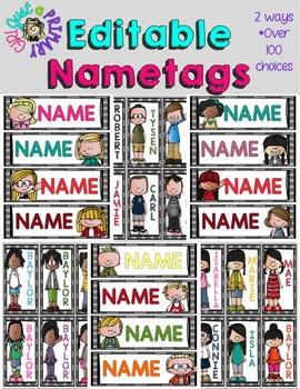 Editable Nametag Bundle