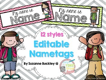 Editable Nametag Templates