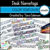 Editable Nametags ~ Color Your Own