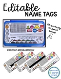 Editable Nametags - Pencil Box Name Tags