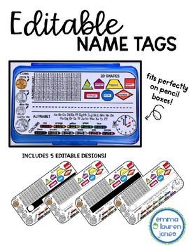 Editable Nametags - Pencil Box Name Tags