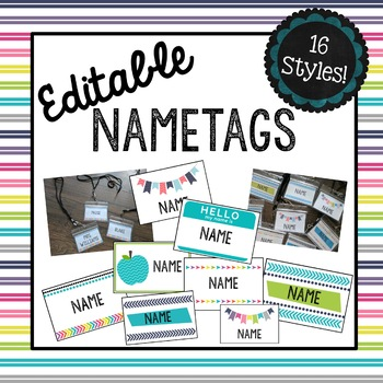 Editable Nametags! Perfect for BADGES!