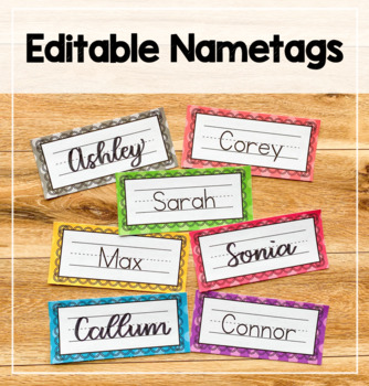 Editable Nametags - Polka Dot Theme