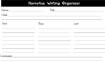Editable Narrative Writing Organizer