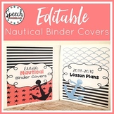 Editable Nautical Binder and Spine Covers