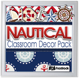 Editable Nautical Classroom Decor Bundle