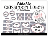 Editable Nautical Classroom Labels (Includes scrapbook cas