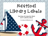 Editable Nautical Library Labels
