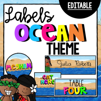 Editable Nautical Nameplates