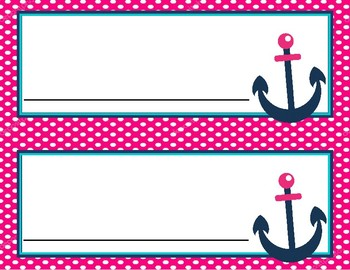 Editable Nautical Nametags