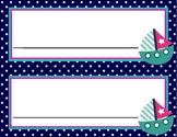 Editable Nautical Nametags