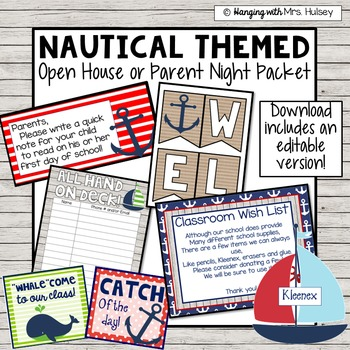 Editable Nautical Open House Documents