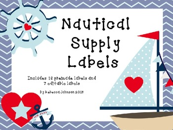 Editable Nautical Supply Labels