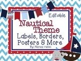 Editable Nautical Theme Labels