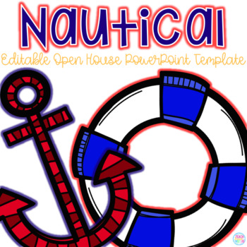 editable nautical themed open house powerpoint templateteach, Modern powerpoint