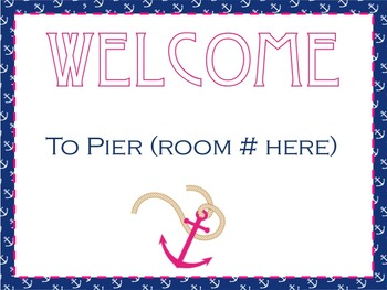 Editable Nautical Welcome Sign FREEBIE!