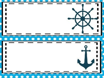 Editable Nautical and Nice Name Plates