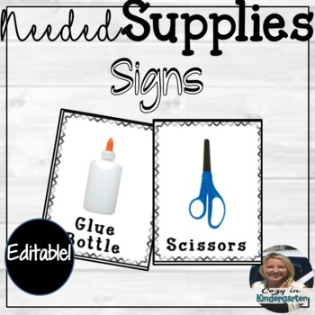 Editable Needed Supplies Labels
