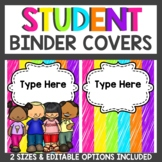 Editable Neon Binder Covers