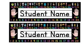 Editable Neon Name tags