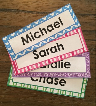 Editable Neon Nametags/Name Plates