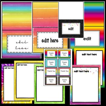 Editable Neon Newsletters